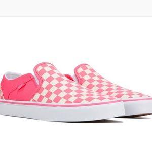 Vans Asher Checkered Slip On